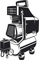 Компрессор воздушный 200 л/мин, 6 л, ЗУБР 1500 Вт, поршневой, безмасляный (КП-200-6 )