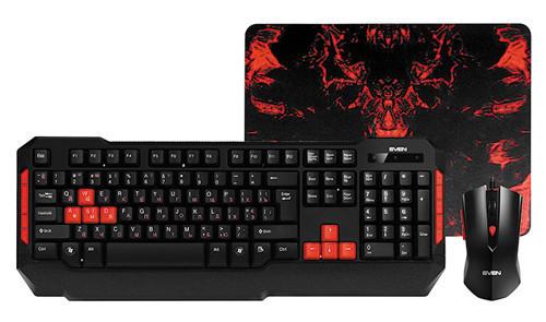 SVEN Игровой набор клавиатура+мышь+коврик SVEN GS-9000