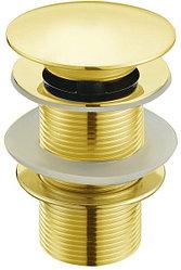 Донный клапан Melana TB51-1 без перелива золото