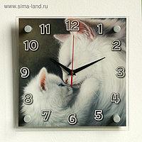 """Часы настенные, серия: Животный мир, """"Кошки"""", 25х25 см"""