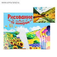 Картина по номерам на холсте 40 × 50 см, «Зеркальное озеро в горах»