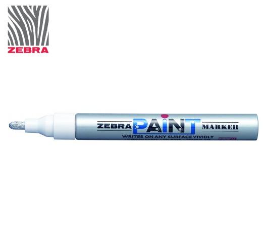 Маркер краска ZEBRA PAINT MARKER цвет Серебро