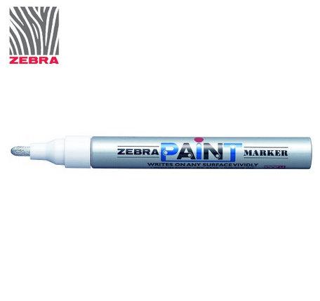 Маркер краска ZEBRA PAINT MARKER цвет Серебро, фото 2