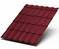 Металлочерепица 0,4  МП Ламонтерра X VikingMP RAL 3005 Красный 2990 тг/м2 при заказе свыше 100 м2, фото 1