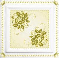 Плитка потолочная Болеро золото