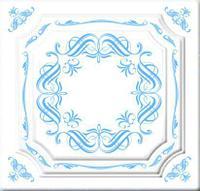 Плитка потолочная Вернисаж голубой