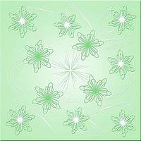 Потолочная плитка Ромашка зеленый