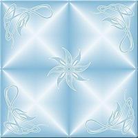 Плитка потолочная Танго голубой
