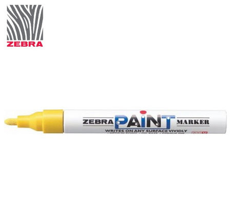Маркер краска ZEBRA PAINT MARKER цвет желтый, фото 2