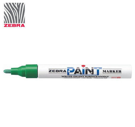 Маркер краска ZEBRA PAINT MARKER цвет зеленый, фото 2