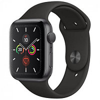 Apple Watch Series 5, 44mm Space Grey Aluminium Case with Black Sport Band, (MWVF2GK/A)