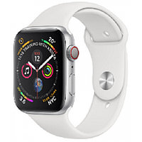 Apple Watch Series 5, 44mm Silver Aluminium Case with White Sport Band, (MWVD2GK/A)
