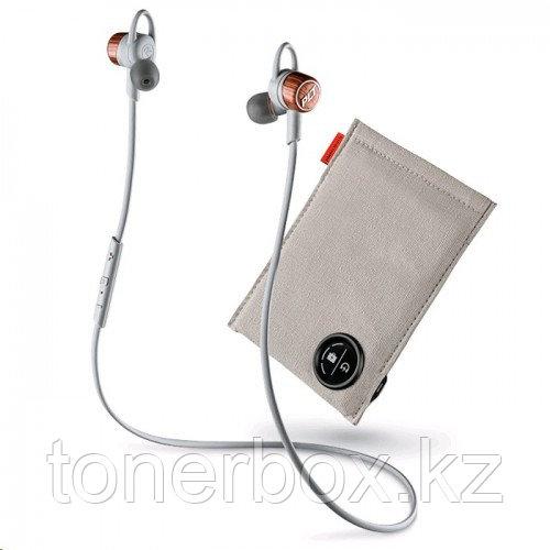 Plantronics BackBeat GO 3 + Charging Case, Gray-Orange