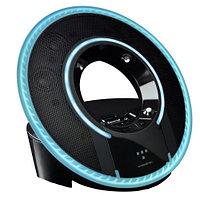Monster Tron Light Disc Audio Dock (2.1) for iPhone/iPod, Black-Blue