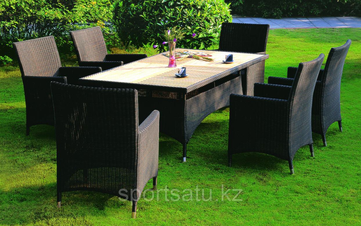 Набор мебели, стол+ 6 кресел из искусственного ротанга