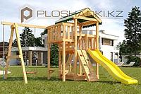 Детская площадка Савушка Мастер 1, канат, игровой столик, качели, песочница, альпинистская стенка., фото 1