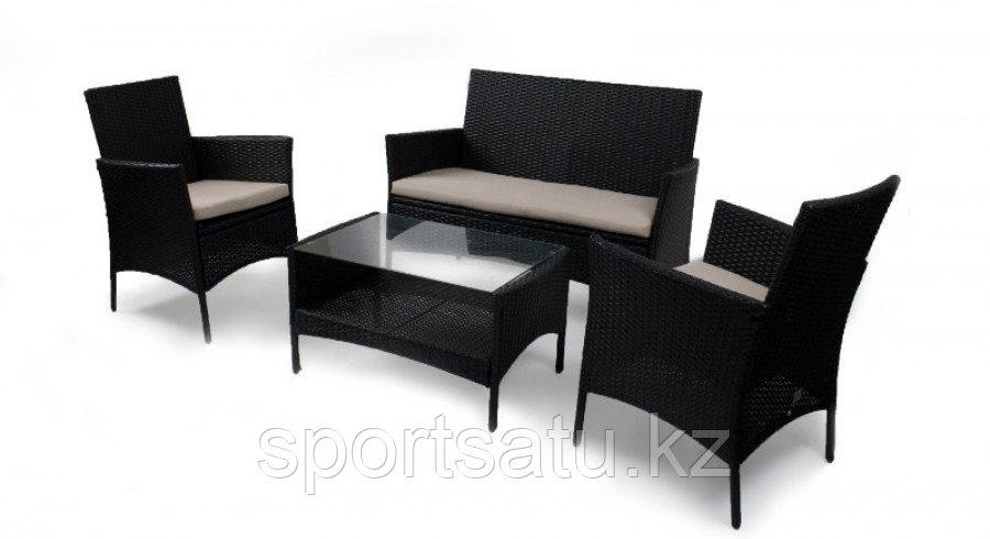 Комплект мебели из искусственного ротанга Стол + диван + 2 кресла