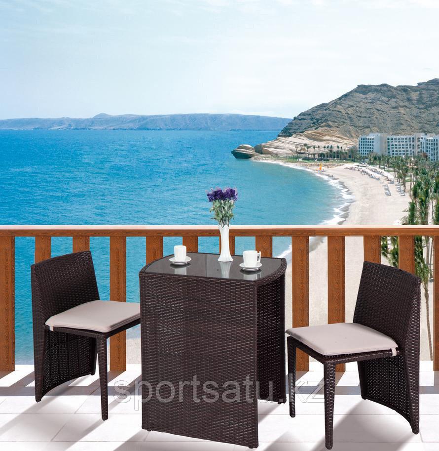 Набор мебели, Стол+2 стула из искусственного ротанга