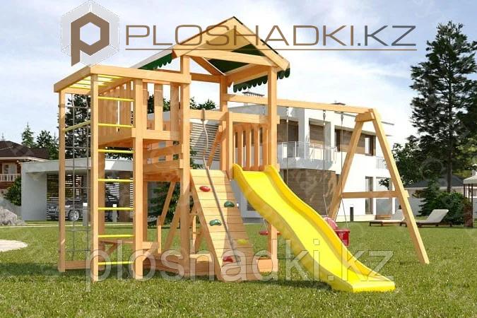 Детская площадка Савушка Мастер 3,игровая башня, горка, качели люкс, рукоход, турник, лестница.