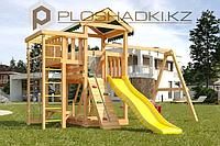 Детская площадка Савушка Мастер 3,игровая башня, горка, качели люкс, рукоход, турник, лестница., фото 1