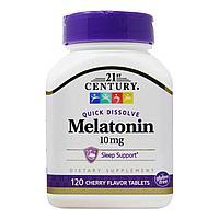 Мелатонин 10 мг, 120 таблеток с вишневым вкусом, 21st century