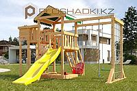 Детская площадка Савушка Мастер 4, игровая башня, игровой балкон, горка, качели люкс, песочница., фото 1
