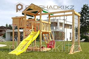 Детская площадка Савушка Мастер 4, игровая башня, игровой балкон, горка, качели люкс, песочница.