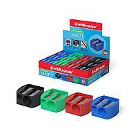 Пластиковая точилка ErichKrause® Multi на два отверстия, цвет корпуса ассорти (в коробке по 24 шт.)