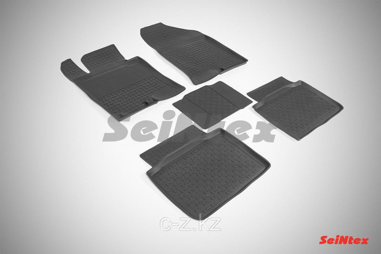 Резиновые коврики с высоким бортом для KIA Optima III 2010-2015