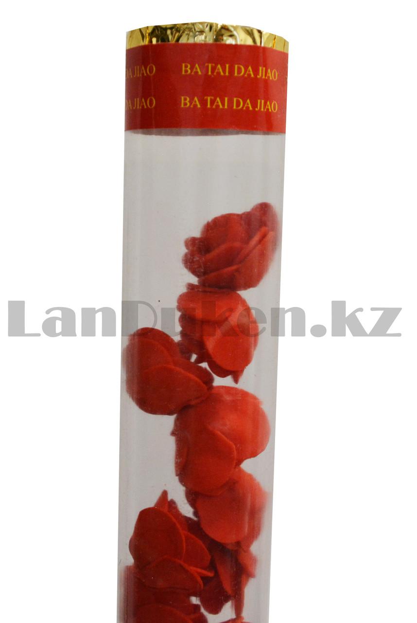 """Хлопушка конфетти бумфети цветочный дождь""""Розы"""" 60 см - фото 4"""