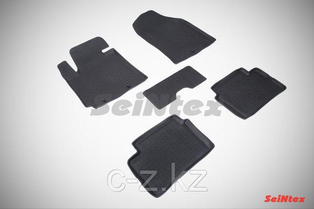 Резиновые коврики с высоким бортом для KIA Picanto II 2011-2017, фото 2