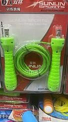 Скакалка гимнастическая 3м  Sunline Sports  зеленая