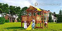 Детская площадка Савушка BABY-3(play), сетка-лазлка, шведская стенка, кольца гимн. скаладром с канатом., фото 1