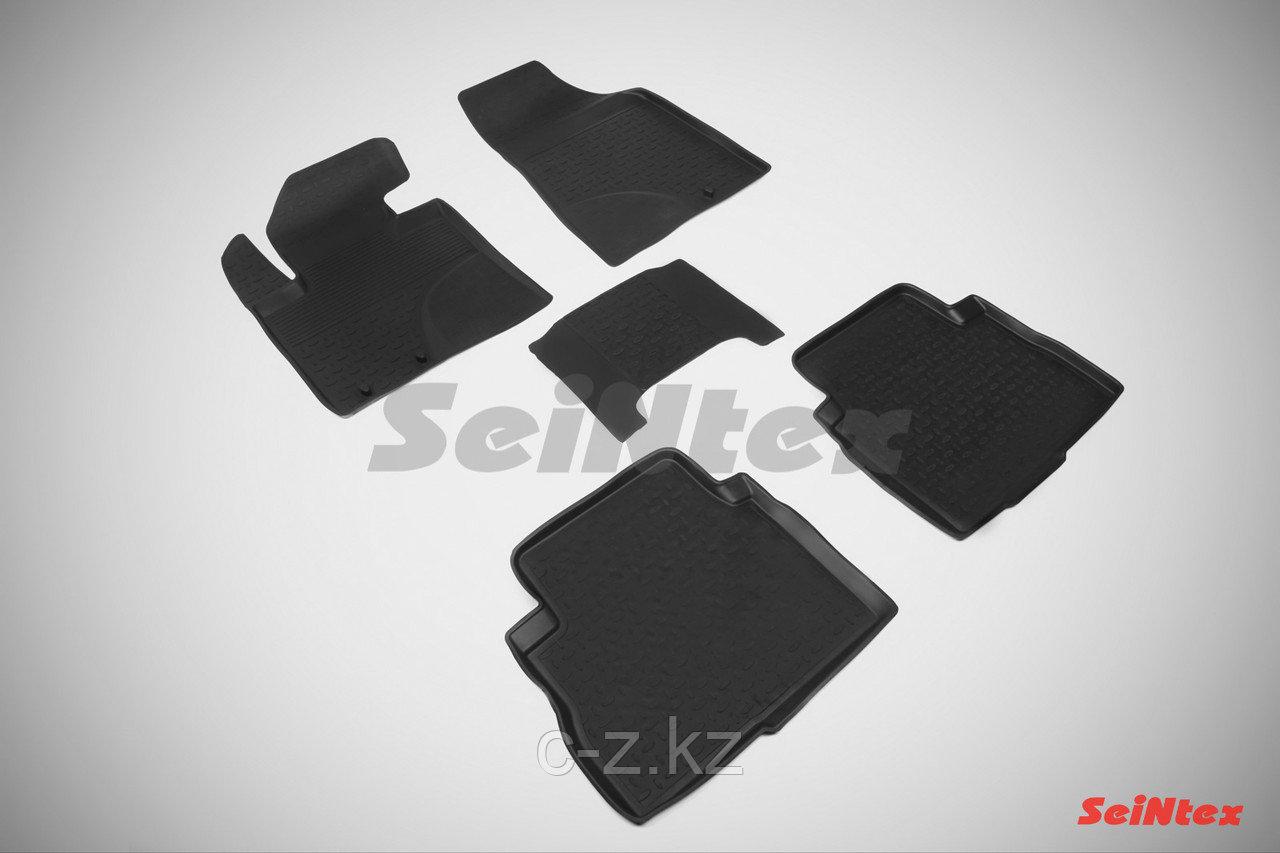 Резиновые коврики с высоким бортом для KIA Sorento 2011-2013