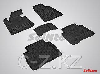 Резиновые коврики с высоким бортом для KIA Sorento 2013-2020