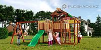 Детская площадка Савушка BABY-15(play), с рукоходом, скалодромом, юиноклем, рулём, турником, горкой, фото 1
