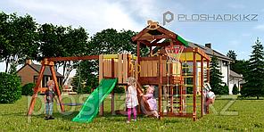 Детская площадка Савушка BABY-15(play), с рукоходом, скалодромом, юиноклем, рулём, турником, горкой