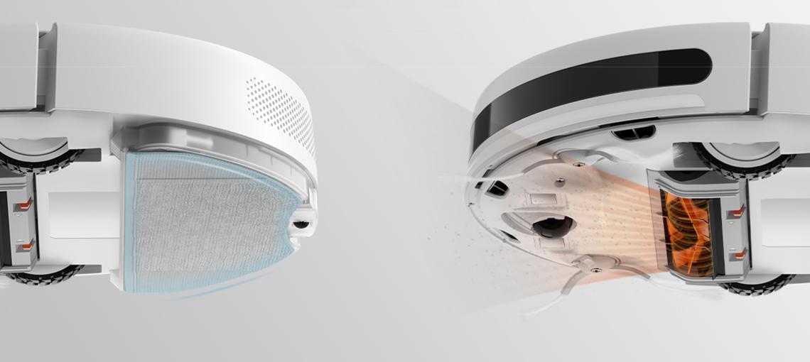 Робот-пылесос Xiaomi Mijia G1 Sweeping Vacuum Cleaner +набор боковых щеток (2 шт) + набор hepa фильтров (2 шт) - фото 4