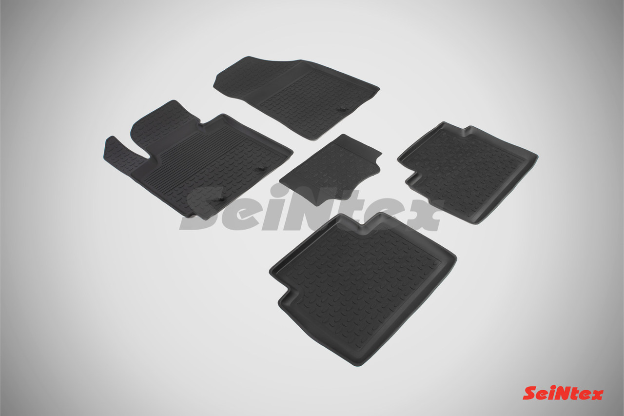 Резиновые коврики с высоким бортом для KIA Soul II 2014-2018