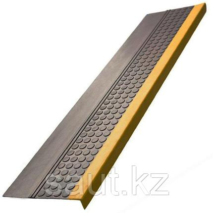 Накладка на ступень (Проступь) Удлиненная продольное рифление, пятачковая 1200x300x30 Светофор, Черная, фото 2