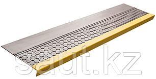 Накладка на ступень (Проступь) Удлиненная продольное рифление, пятачковая 1200x300x30 Светофор, Серая, фото 2