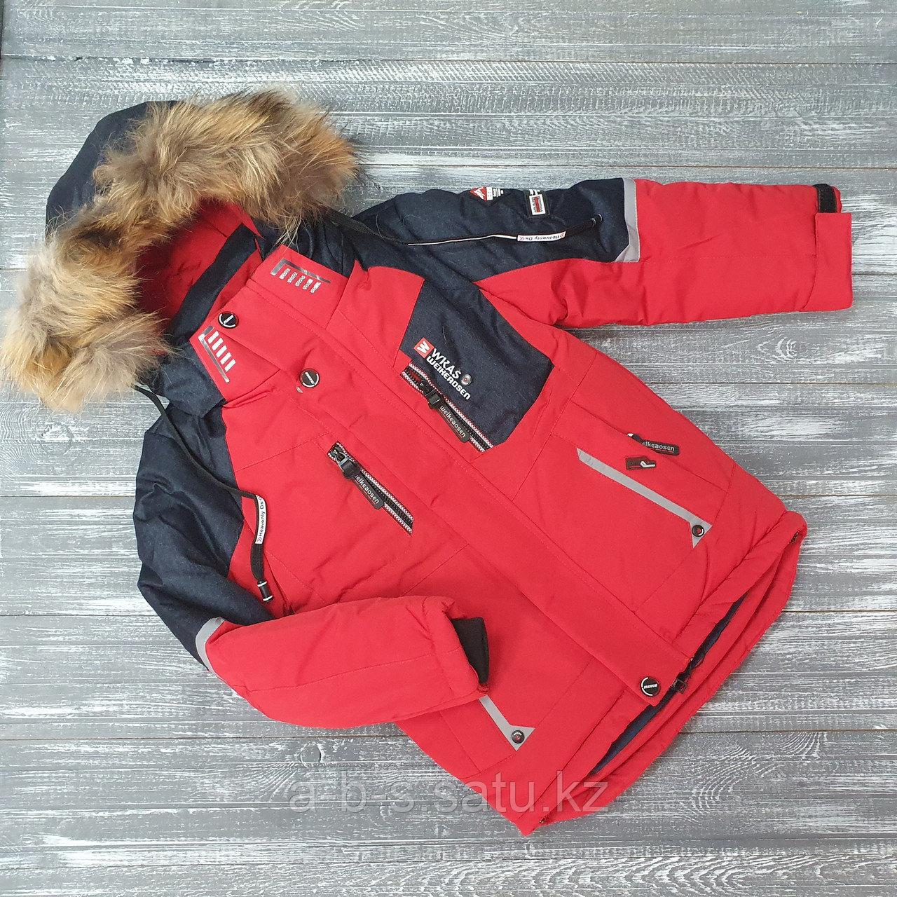 Куртка для мальчиков черно-красная  WKAS