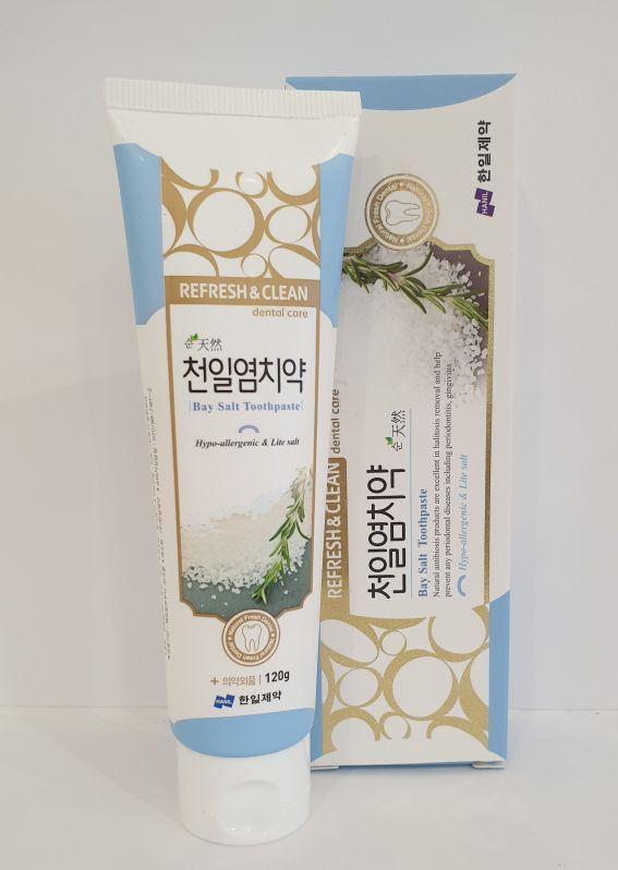 Зубная паста для чувствительных зубов с морской солью Himalaya Pinksalt IceCalming Mint 120g.