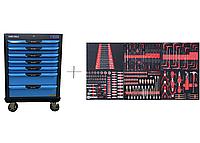 Тележка с 7 ящиками+ПОДАРОК инструмент 250 предметов KraftWell