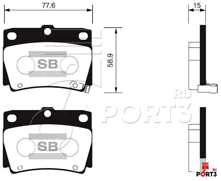 Колодки задние Mitsubishi Pajero 2.4-2.5 97-06, Dodge Challenger 3.0 4WD >98