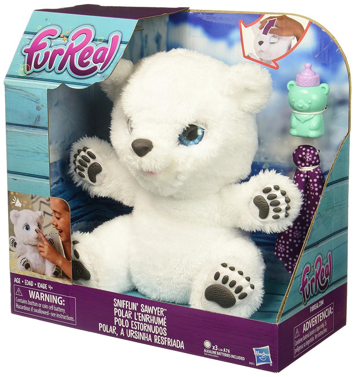 """Hasbro FurReal Friends Интерактивная игрушка """"Полярный Медвежонок"""" - фото 1"""