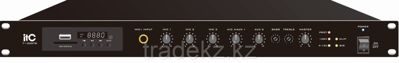 ITC Audio T-120DTB микширующий усилитель Class D с USB/SD/TUNER и Bluetooth