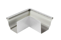 Угол желоба наружный 135º Белый 120х86 Металлический прямоугольного сечения  ПЭ Ral 9003