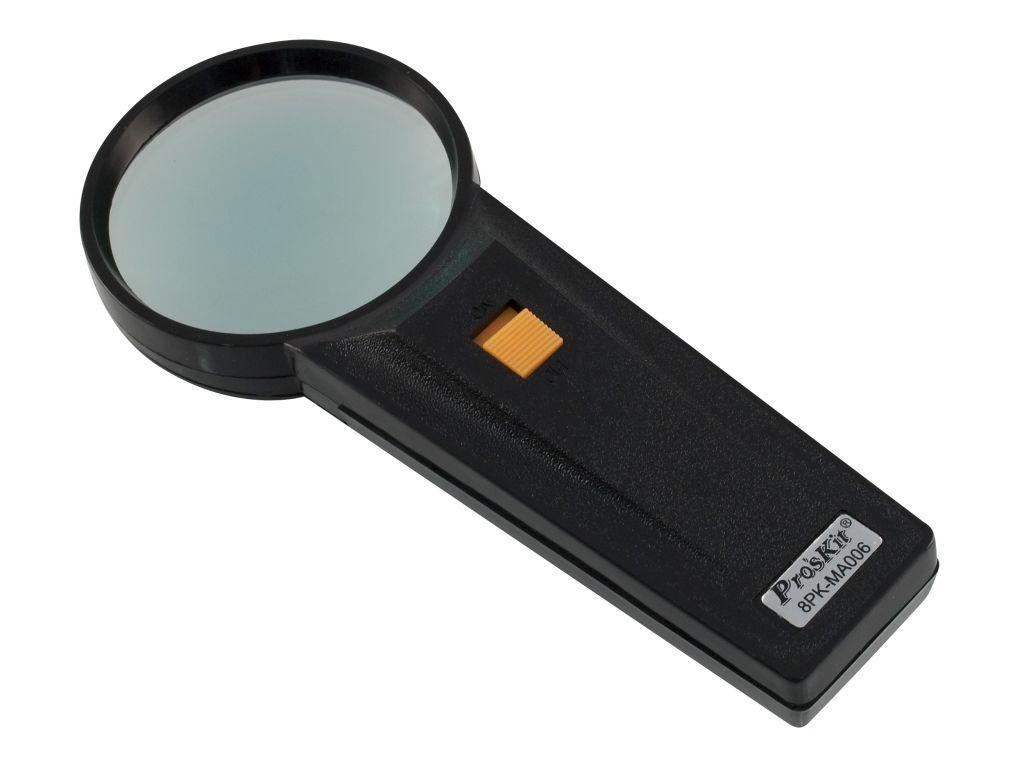 8PK-MA006 Pro'sKit Лупа ручная с подсветкой