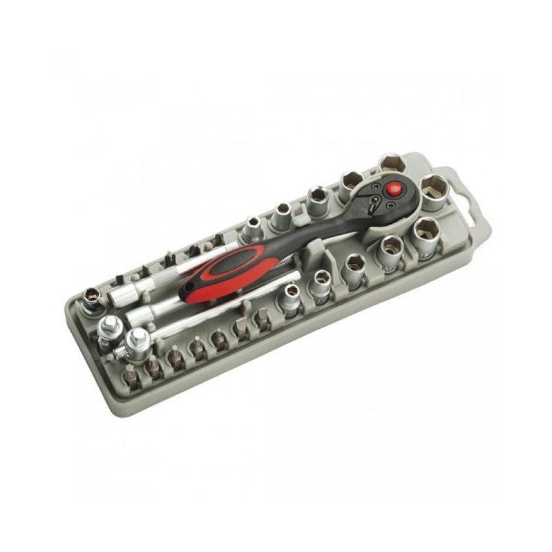 SD-2308M Pro'sKit Набор бит и головок (27шт., ключ, рукоятка, длинногубцы)